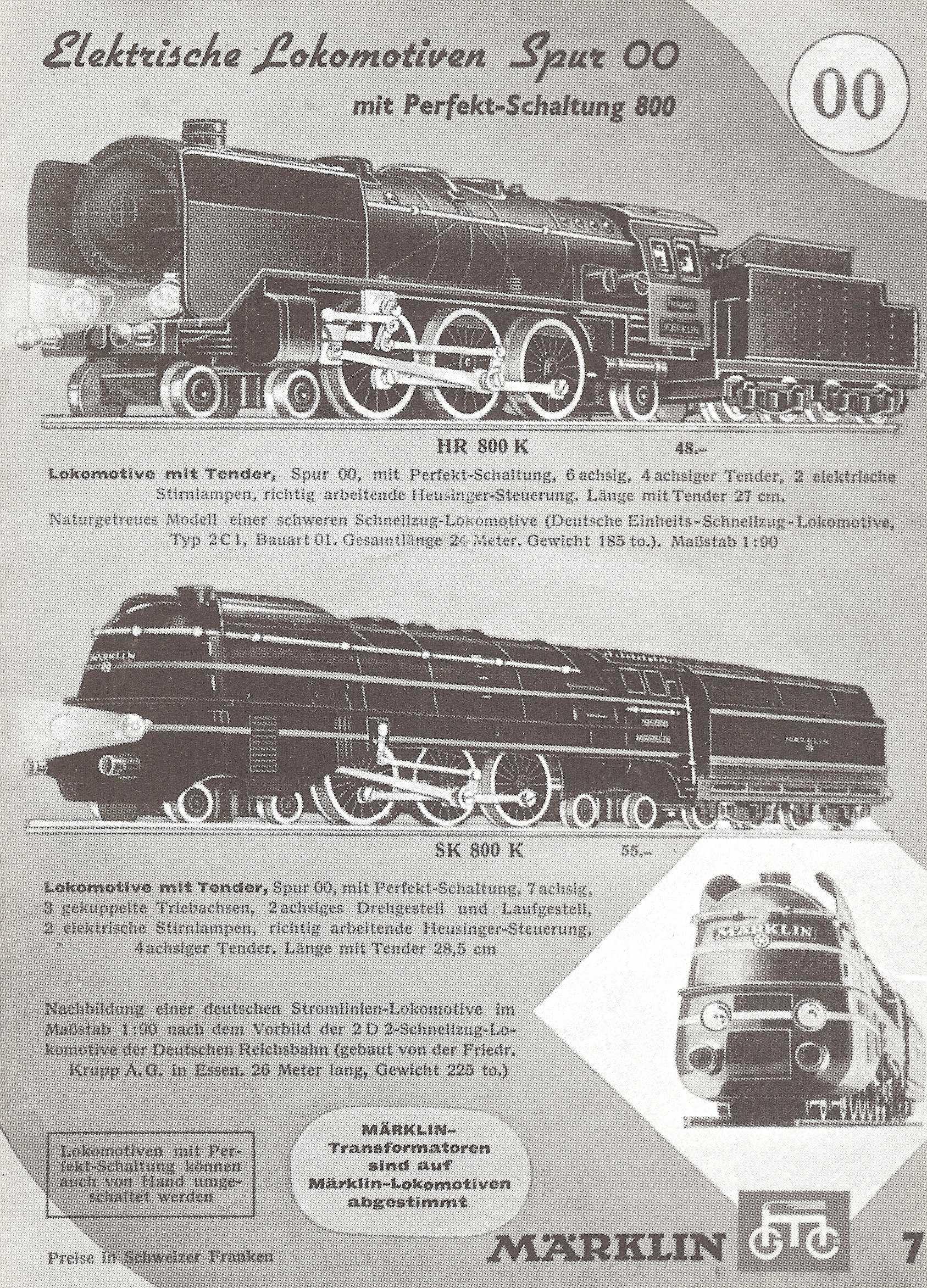 marklin 1940 - catalogue exclusivement de oo